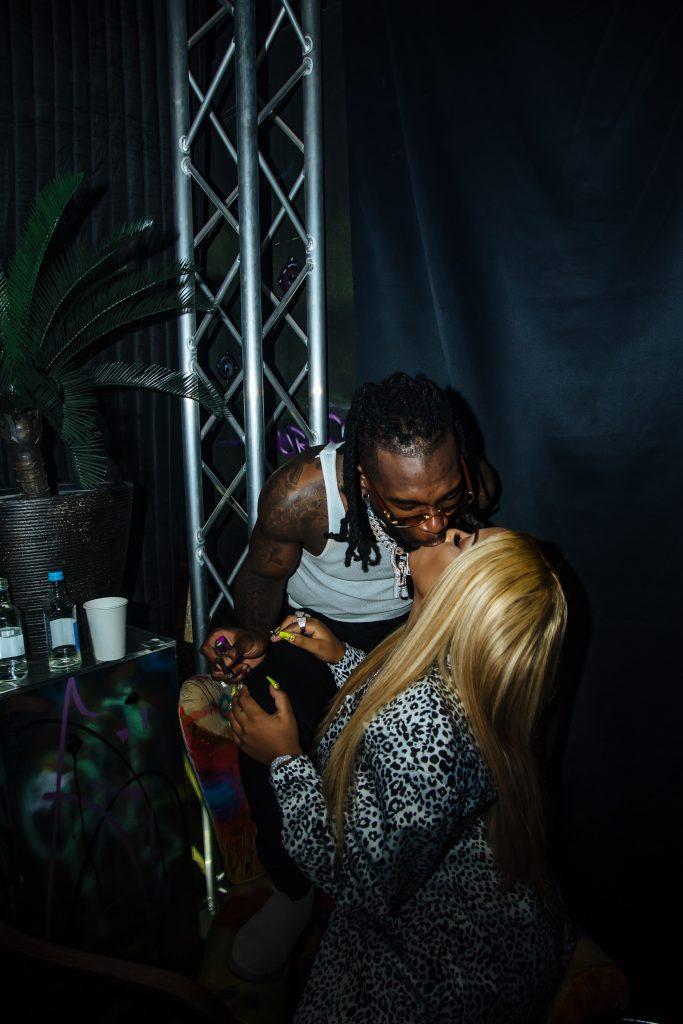PHOTOS: Burna Boy Parties With Idris Elba & Girlfriend